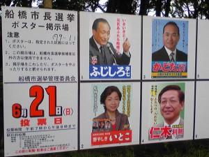 船橋市長選