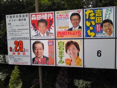 千葉県知事選挙ポスター掲示板